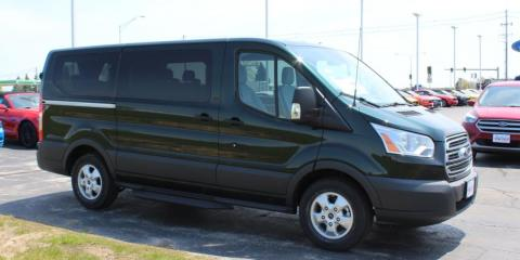 Transit vans are a popular seller at Burkart Ford in Plymouth. , Kiel, Wisconsin