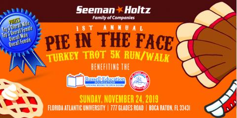 Join the Seeman Holtz Charities for our 1st Annual 5k Turkey Trot , Boca Raton, Florida
