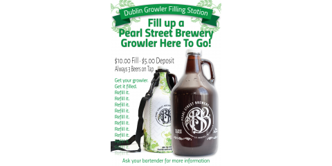 Fill your Pearl Street Brewery growler today at Dublin Square!, La Crosse, Wisconsin
