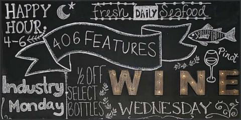 Wine Wednesdays at 406 Bar & Grill, Kalispell, Montana