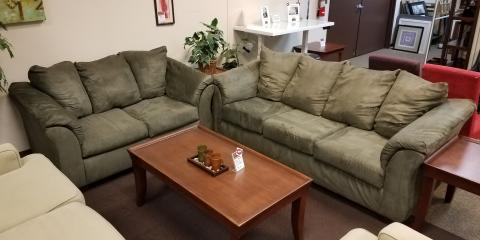 SOFA AND LOVESEAT – DARCY – SAGE - $400, ,