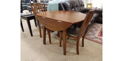 DROP LEAF DINING TABLE AND 2 CHAIRS – MANGO - $250, ,
