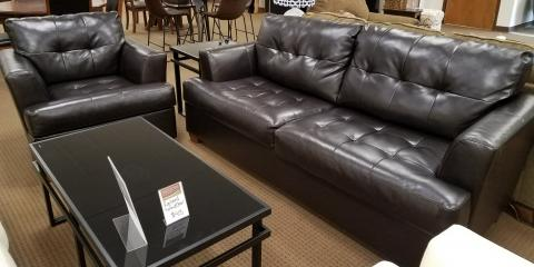 SOFA AND CHAIR – ROEBAND – CHOCOLATE - $400, ,