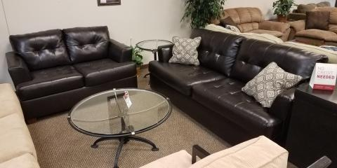 Sofa and Loveseat - Roeband - Chocolate - $450, ,