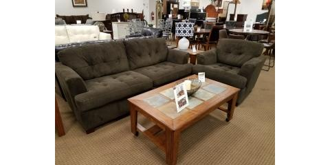 Sofa And Chair Dallas Chocolate 450 Mcguire Furniture Rental Sales Nearsay