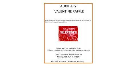 Auxiliary Valentine Raffle, La Crosse, Wisconsin