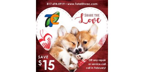 Share the Love on your HVAC Services in February!, Fort Worth, Texas