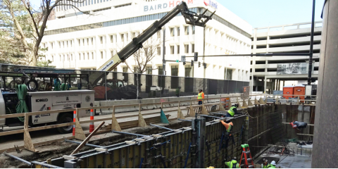Omaha Foundation Department Completes First Cast in Place Utility Vault, Lincoln, Nebraska