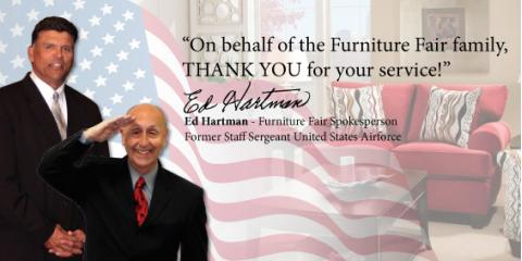 Furniture Fair Honors Soldiers With Donation From Furniture Sales Florence