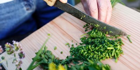 Using Local Produce: Fresh Herbs, Vineland, New Jersey