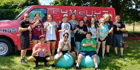 GYMGUYZ VOLUNTEERS AT GILDA'S CLUB, Doylestown, Pennsylvania