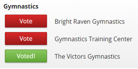 You Can Help Us Win Gymnastics Gym of the Year, Spencerport, New York