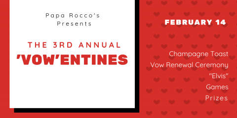 Papa Rocco's 'Vow'-entines Day Event, Gulf Shores, Alabama