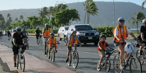 The Benefits of Having Your Child Ride a Bicycle to School, Honolulu, Hawaii