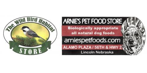 The Wild Bird Habitat Stores & Arnie's Pet Food Store Offer Curbside Pickup Option For Your Safety, Lincoln, Nebraska