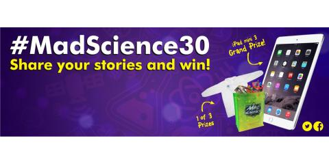 Last Day to Enter the Mad Science 30 Year Contest, San Fernando Valley, California