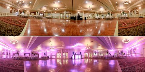Uplighting can change the look of any event venue, Boston, Massachusetts