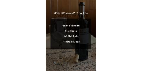 Brookside Inn's Weekend Specials, Oxford, Connecticut