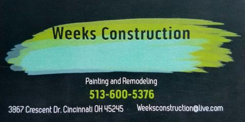 Michael Weeks Construction, Painting Contractors, Services, Cincinnati, Ohio