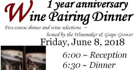 1 year Anniversary Wine Pairing Dinner , Sugar Creek, Illinois