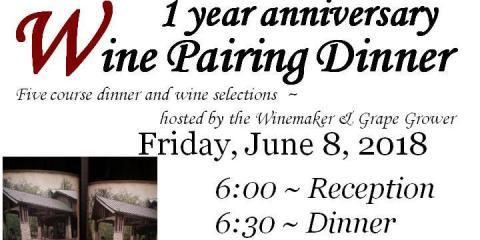1 year Anniversary Wine Pairing Dinner , Sugar Creek, Illinois