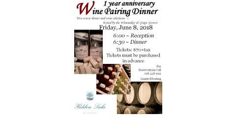 1 year Anniversary Wine Pairing Dinner! , Sugar Creek, Illinois