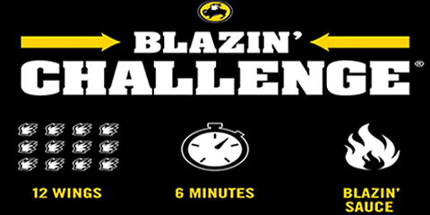 Can You Handle the Blazin'® Challenge? 3 Facts Wings Fans Need to Know, Queens, New York