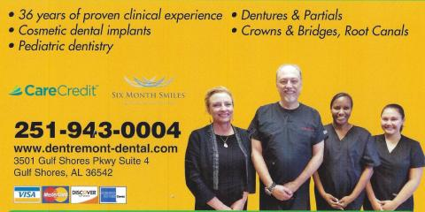 Dentremont Dental Snowbird Season Begins , Gulf Shores, Alabama