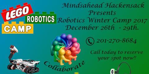 Robotics Winter Camp 2017 Dec.26th- Dec 29th, Hackensack, New Jersey
