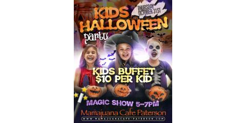 KIDS HALLOWEEN PARTY- BUFFET $10- MAGIC SHOW- MAMAJUANA CAFE PATERSON, Paterson, New Jersey