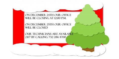 Our upcoming holiday hours are as follows.., Forked River, New Jersey