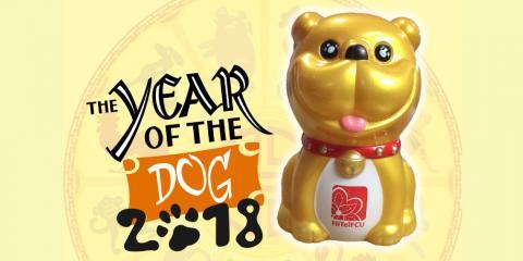 FREE Year of the dog bank, Honolulu, Hawaii