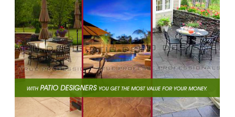 Patio Designers, Patio Builders, Services, West Sacramento, California